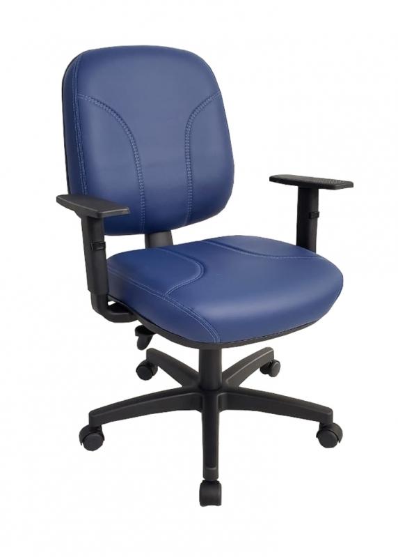 Cadeira de Escritório Giratória Estofada Capão Redondo - Cadeira Secretária Giratória