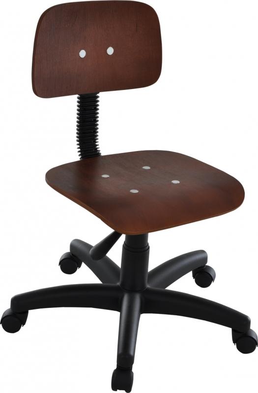 Cadeira Giratória em Madeira Industrial Lauzane Paulista - Cadeira Secretária Giratória