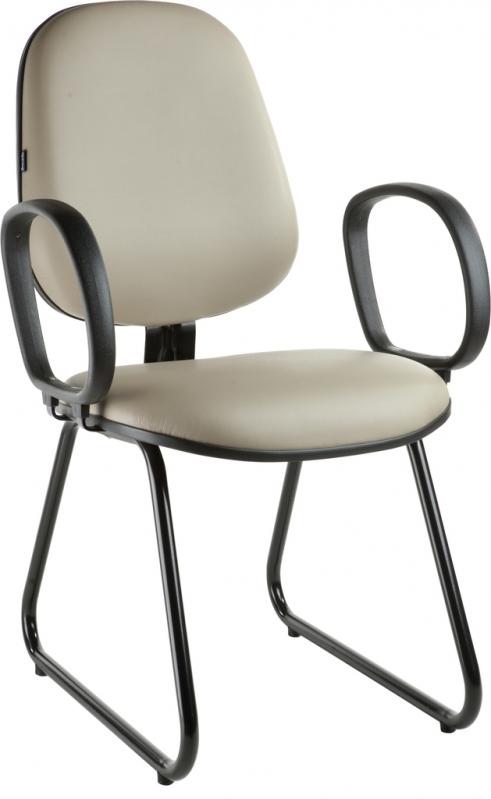 Cadeira Interlocutor com Braço Vila Beatriz - Cadeira Escritório Interlocutor