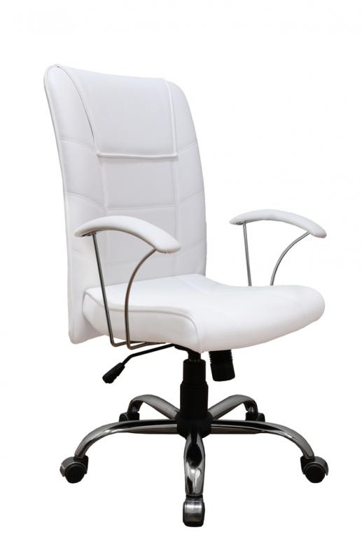 Cadeira Presidente Branca Goiás - Cadeira Presidente 150kg