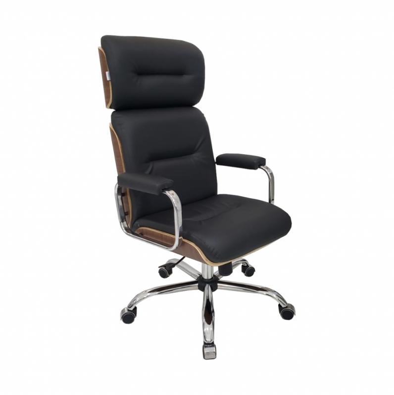 Cadeira Presidente Preta ABCD - Cadeira Office Presidente