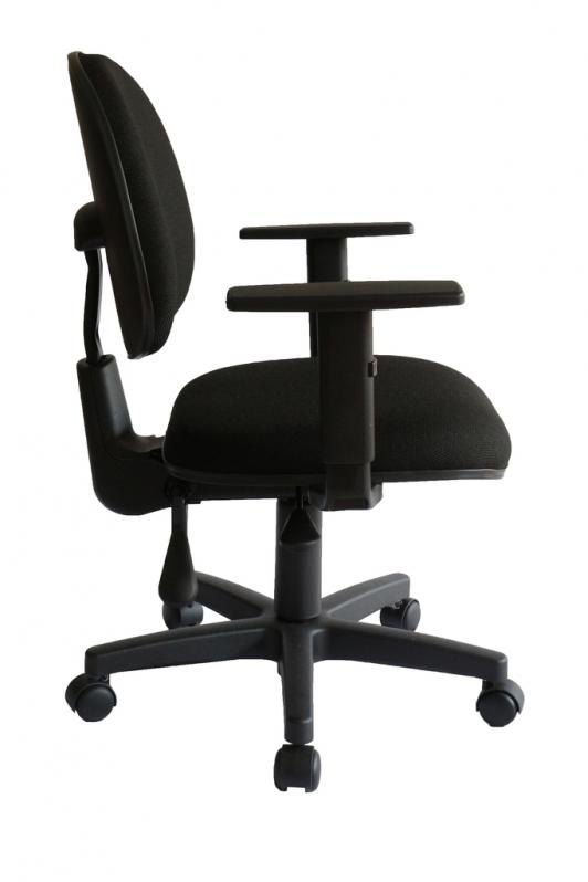 Cadeira Secretária Giratória com Braços Cidade Dutra - Cadeira Secretária Giratória