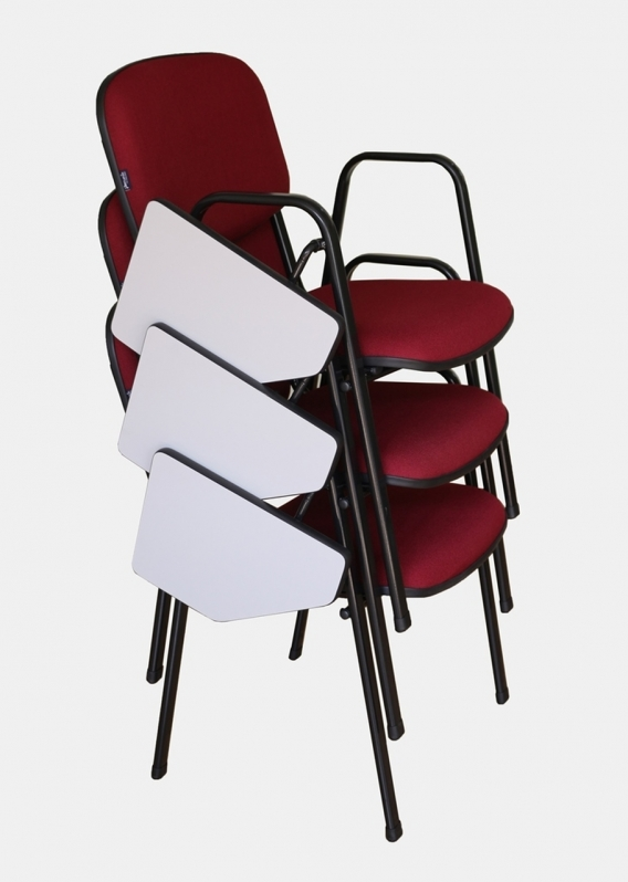 Cadeira Universitária com Prancheta Dobrável Preço Diadema - Cadeira Universitária Empilhável
