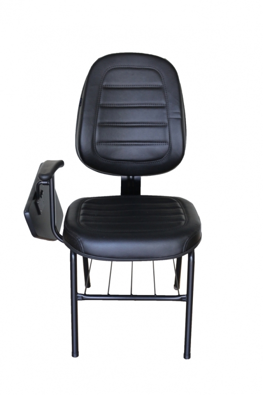 Cadeira Universitária com Prancheta Escamoteável Preço Água Branca - Cadeira Universitária Empilhável