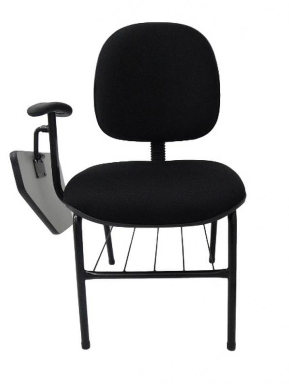 Cadeira Universitária com Prancheta Escamoteável Cachoeirinha - Cadeira Universitária Estofada com Prancheta