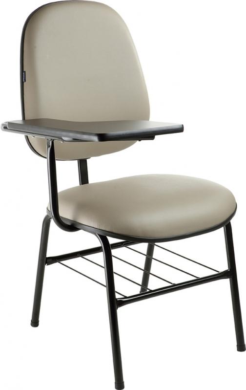 Cadeira Universitária com Prancheta Frontal Piracaia - Cadeira Universitária Estofada com Prancheta