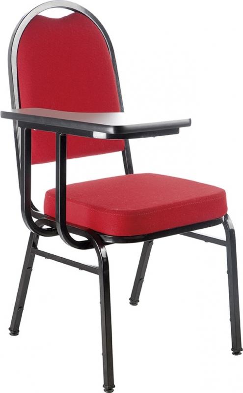 Cadeira Universitária Empilhável Preço Parque São Jorge - Cadeira Universitária Estofada com Prancheta Escamoteável