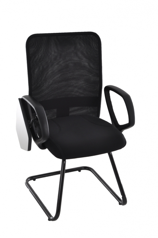Cadeira Universitária Estofada com Prancheta Escamoteável Sitio Manda Aqui - Cadeira Universitária Empilhável