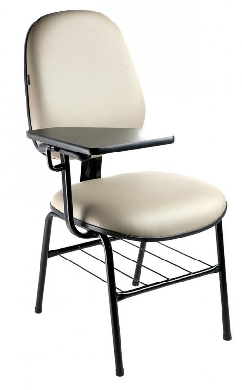 Cadeira Universitária Estofada com Prancheta Preço Trianon Masp - Cadeira Universitária Estofada com Prancheta