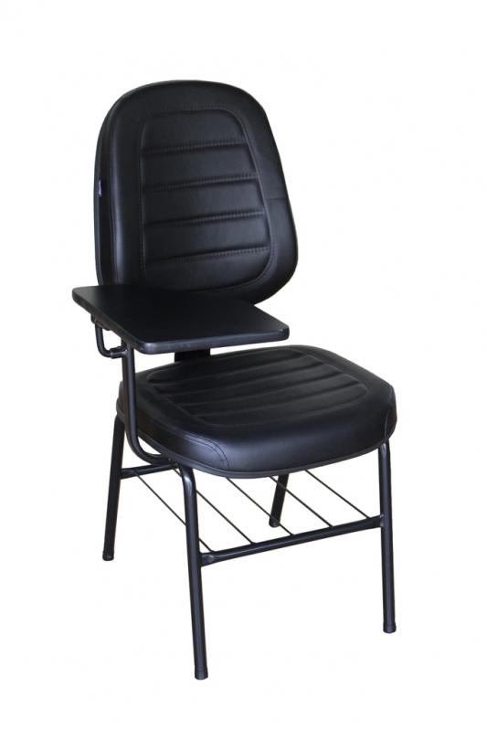 Cadeira Universitária Estofada com Prancheta Cidade Dutra - Cadeira Universitária Azul