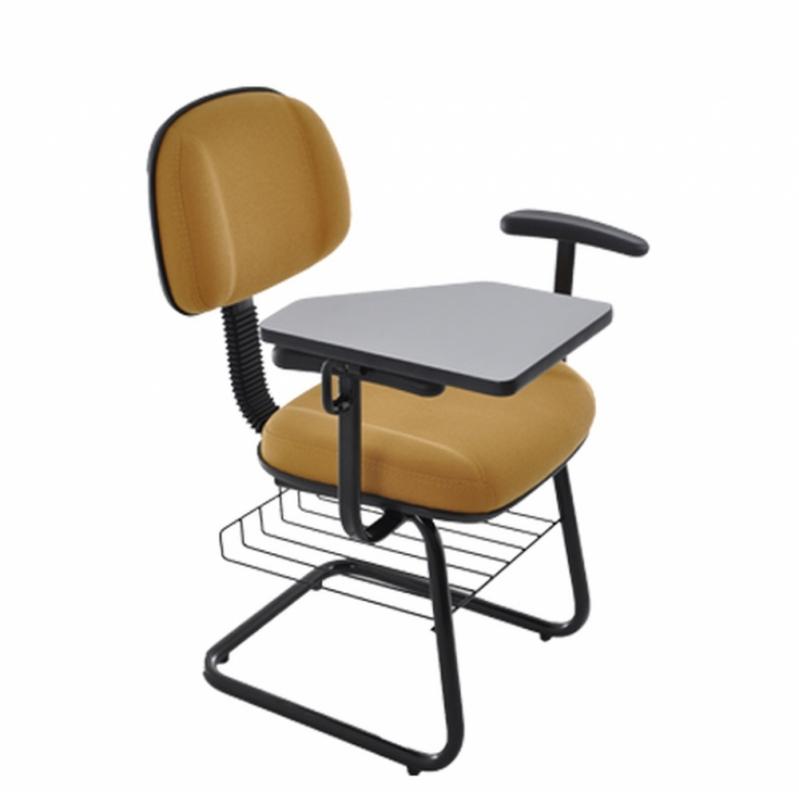 Cadeira Universitária Estofada Barra Funda - Cadeira Universitária Azul