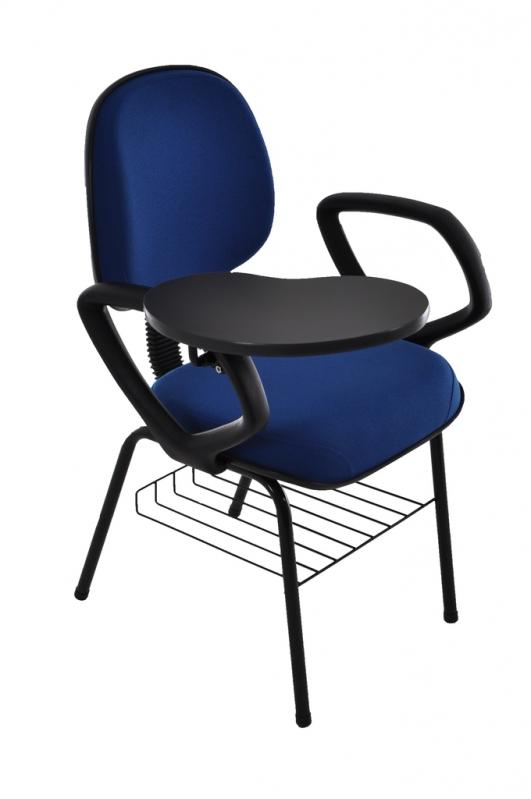 Cadeiras Universitária Azul Goiânia - Cadeira Universitária Empilhável