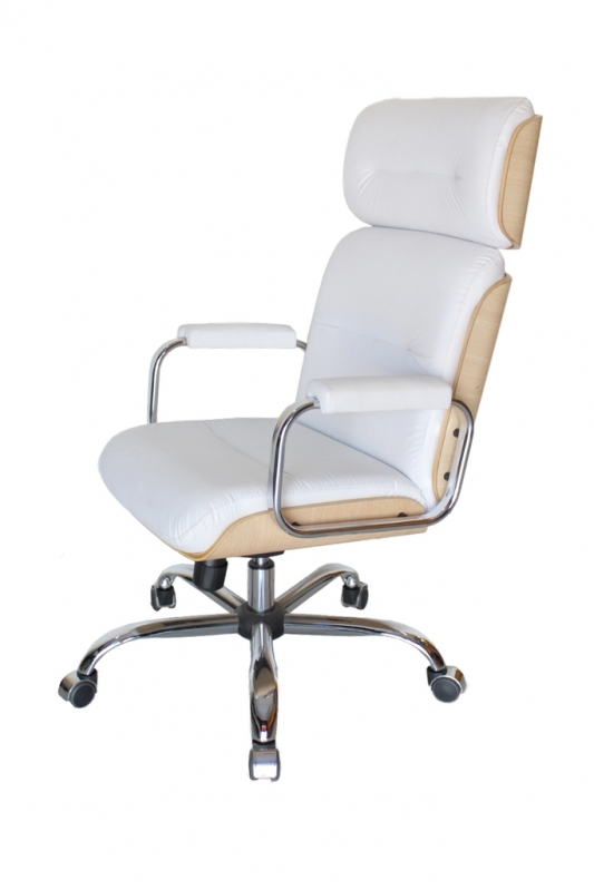 Comprar Cadeira Presidente Branca Campo Grande - Cadeira Presidente Reclinável