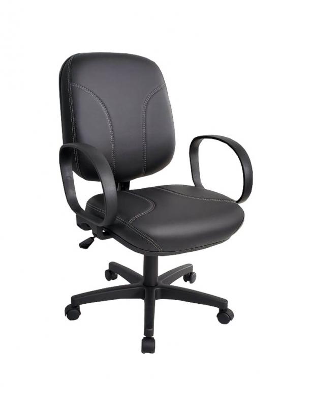 Loja de Cadeira de Escritório Giratória Estofada Casa Verde - Cadeira Secretária Giratória