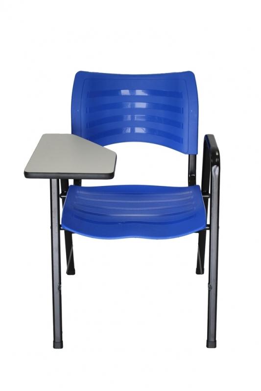 Loja de Cadeira Universitária Azul Cachoeirinha - Cadeira Universitária Estofada com Prancheta