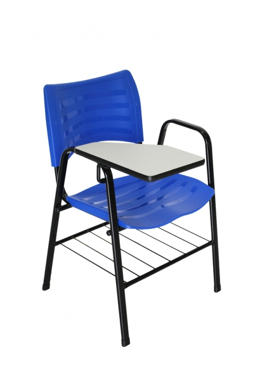 Loja de Cadeira Universitária com Prancheta Vila Sampaio - Cadeira Universitária Azul