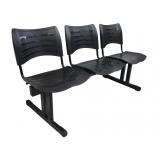 cadeira 3 lugares recepção Nova Odessa