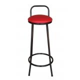 cadeira alta com encosto para cozinha Jardim Três Marias