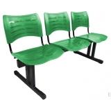cadeira de recepção com 3 lugares preços Americana