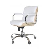 cadeira escritório branca preço Jardim Coimbra