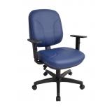 cadeira estofada com braço confortável Pari