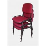 cadeira estofada para igreja confortável GRANJA VIANA