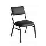 cadeira estofada preta confortável Vila Buenos Aires