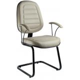 cadeira fixa estofada confortável Jockey Club
