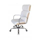 cadeira giratória branca valores Vila Batista