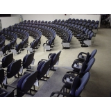 cadeira longarina com assento rebatível 3 lugares Santa Rita do Ribeira