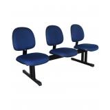 cadeira longarina estofada 3 lugares Artur Nogueira