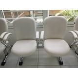 cadeira para recepção de clínica preços Jardim Everest