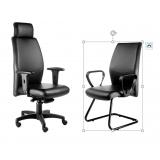 cadeira presidente e interlocutor Alumínio