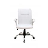 cadeira secretária branca Alumínio