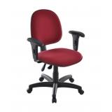 cadeira secretária giratória com braços valores Santa Teresinha de Piracicaba