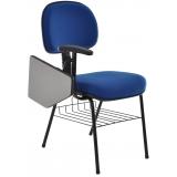 cadeira universitária azul preço Vila Regina