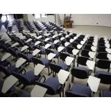 cadeira universitária azul Chácara Santo Antônio