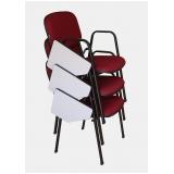cadeira universitária com prancheta dobrável preço Diadema