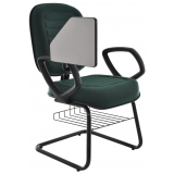 cadeira universitária com prancheta dobrável Perus