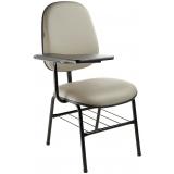 cadeira universitária com prancheta frontal Araçoiabinha