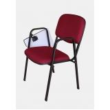 cadeira universitária estofada com prancheta escamoteável preço Goiânia