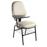 cadeira universitária estofada com prancheta preço bonilhia