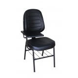 cadeira universitária estofada com prancheta ARUJÁ