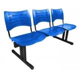 cadeira 3 lugares recepção