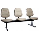 cadeira para recepção 3 lugares