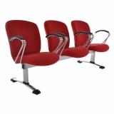 cadeira recepção 3 lugares