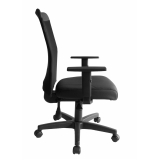 cadeira secretária executiva ergonômica preto