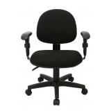 cadeira secretária giratória com braços reguláveis preta