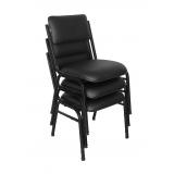 cadeiras empilhável preta Vila Suzana
