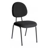 cadeira preta estofada